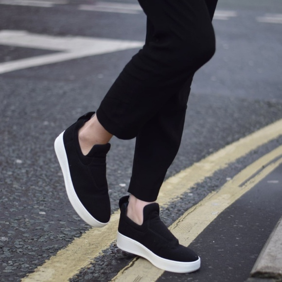 50de9f91c28d Celine Shoes - Celine Leather Slip On Platform Sneakers